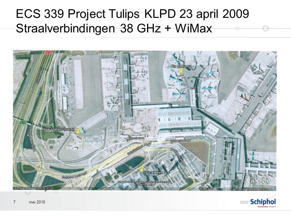 mei 20107 ECS 339 Project Tulips KLPD 23 april 2009 Straalverbindingen 38 GHz + WiMax