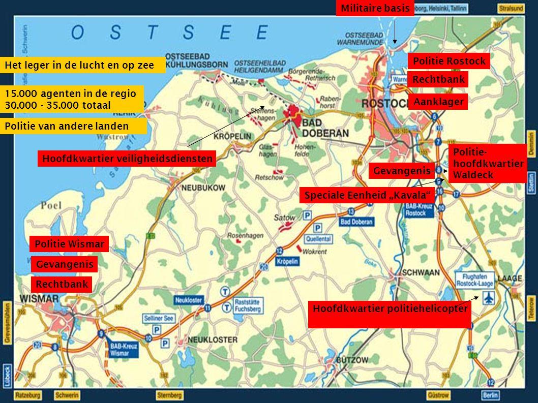 Dit is gepland voor 2007 26 mei: Convergence Center Hamburg, misschien Berlin (= verzamelpunt) 2 juni: betoging in Rostock, concert 2/3 juni: bombodrom, kamp en start karavaan naar Heiligendamm (samen met de Europese marsen?) 4 juni: actiedag rond migratie – acties in het kamp, bij overheidsinstellingen en betoging in Rostock 4-7 juni: directe actie, blokkades 5 juni: actiedag rond antimilitarisme, blokkade van de luchthaven in Rostock-Laage 5-7 juni: alternatieve top in Rostock 6 juni: blokkades rond Heiligendamm 7 juni: protestmars naar Heiligendamm, vanuit Nienhagen, Kühlungsborn, Bad Doberan en Kröpelin 7 juni: acties rond Heiligendamm 7 juni: Music and Message : Concert van Herbert Grönemeyer (de Duitse Bono) bij Heiligendamm/ Rostock Alsook: Campings, fietskaravanen, Samba-bands, Clowns Army, Pink & Silver, reuzen, kerkacties… G8 2007: 6 tot 8 juni
