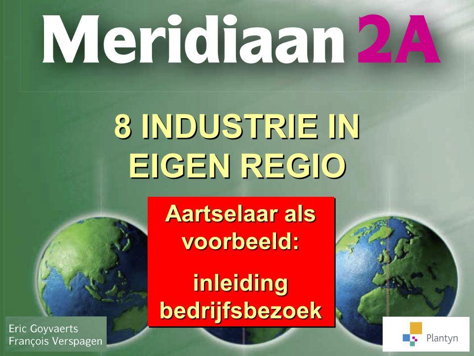 8 INDUSTRIE IN EIGEN REGIO Aartselaar als voorbeeld: inleiding bedrijfsbezoek Aartselaar als voorbeeld: inleiding bedrijfsbezoek
