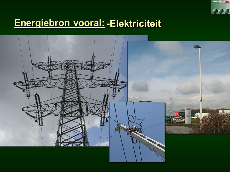 Energiebron vooral: -Elektriciteit-Elektriciteit
