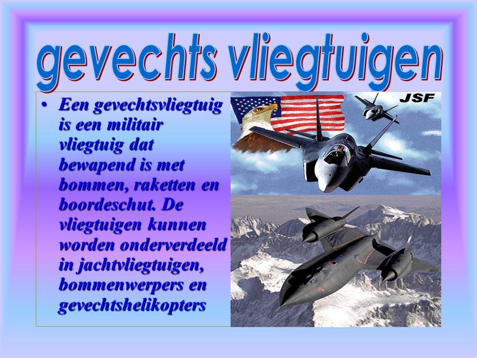 Een gevechtsvliegtuig is een militair vliegtuig dat bewapend is met bommen, raketten en boordeschut.