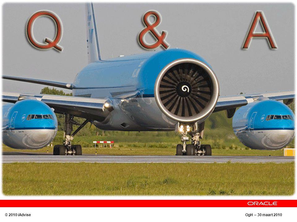 OgH – 30 maart 2010 Q&A © 2010 iAdvise