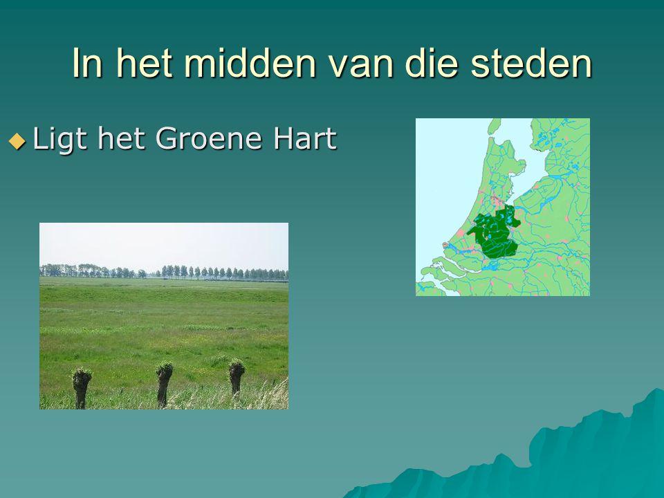 In het midden van die steden  Ligt het Groene Hart