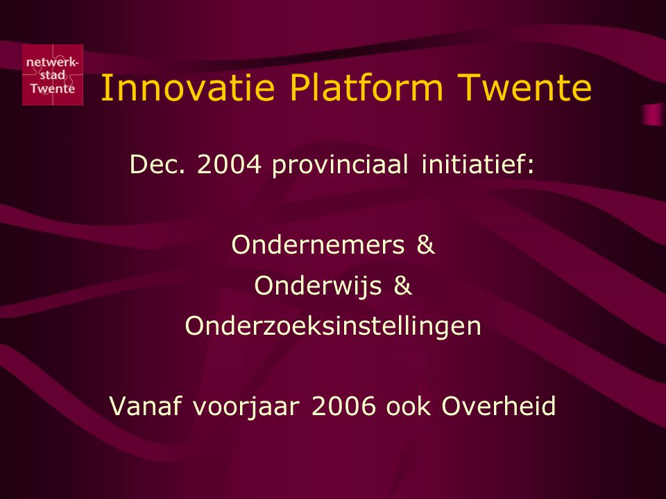 Innovatie Platform Twente Dec.