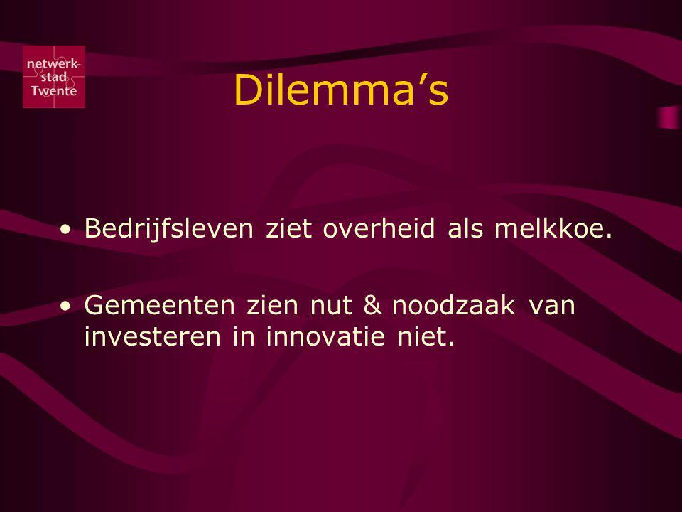 Dilemma's Bedrijfsleven ziet overheid als melkkoe.