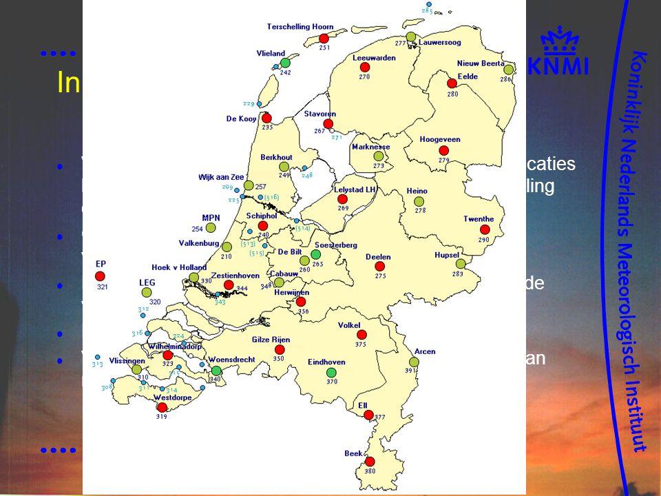 Inrichting nationale netwerk, conform (CCM) SWaNet2000 Vanwege AVW, niet meer gebonden aan historische locaties bemande stations.