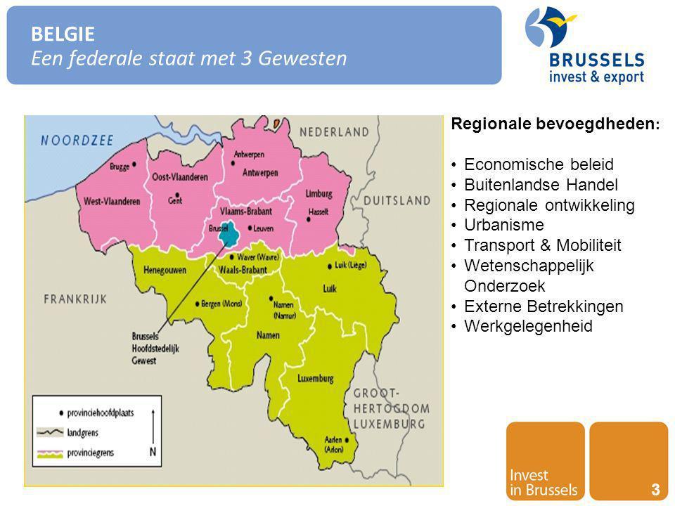 Invest in Brussels 14 RUIM AANBOD AAN MENSELIJK TALENT EN EEN CENTRUM VAN INNOVATIE Human resources Brussel is een tweetalige stad (Frans-Nederlands) Aanwezigheid van talrijke internationale instellingen zorgt voor een groot aantal buitenlandse talenten (30% van de bevolking) Brussel rangschikt zich wereldwijd als 7de in termen van kennis van het Engels(Education First, 2011) 2de Europese stad in termen van het aantal gesproken talen (European cities monitor, 2011) De Brusselse werknemers zijn in hoge mate meertalig