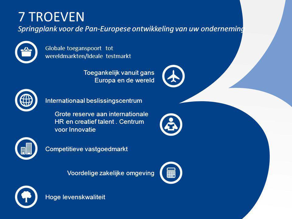 Invest in Brussels 17 COMPETITIEVE VASTGOED MARKT Zeer betaalbare kantoormarkt Cushman & Wakefield, Office space across the world 2012 Kantoormarkt (huurprijzen voor top locaties)