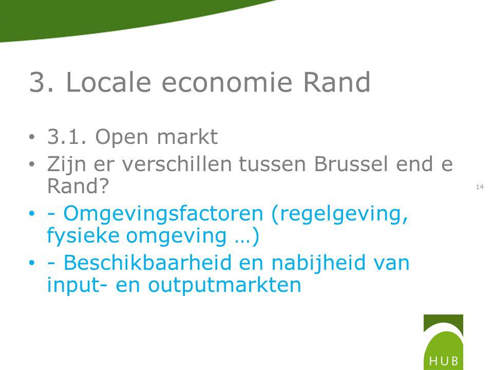 3. Locale economie Rand 3.1. Open markt Zijn er verschillen tussen Brussel end e Rand.