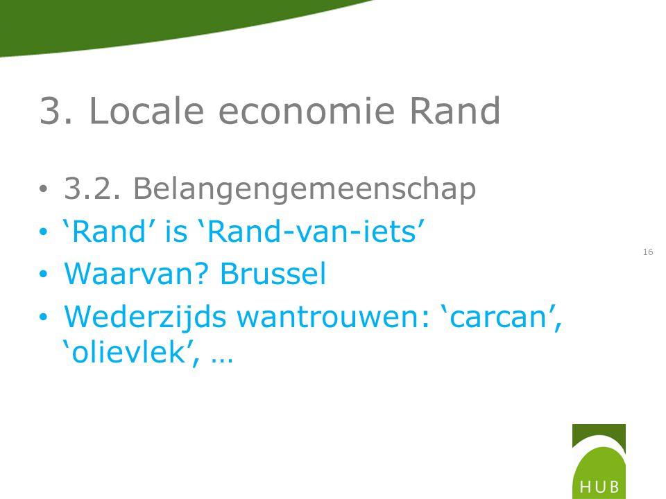 3. Locale economie Rand 3.2. Belangengemeenschap 'Rand' is 'Rand-van-iets' Waarvan.