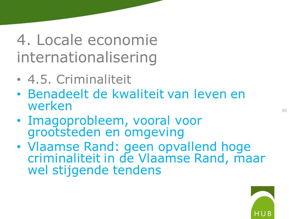 4. Locale economie internationalisering 4.5.
