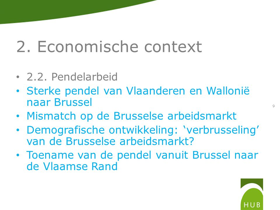 2. Economische context 2.2.