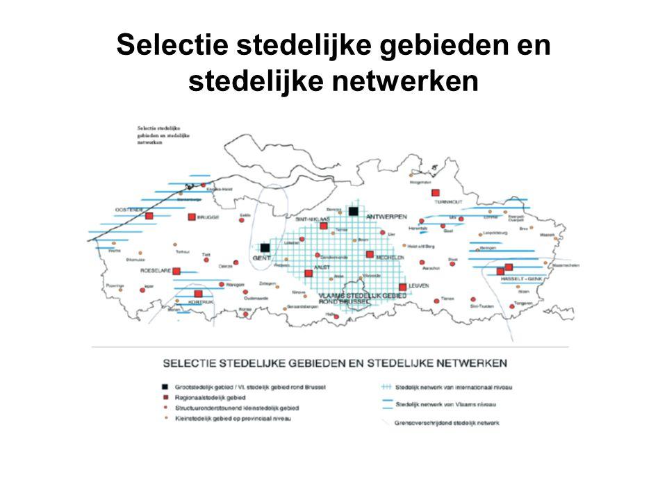 Selectie stedelijke gebieden en stedelijke netwerken
