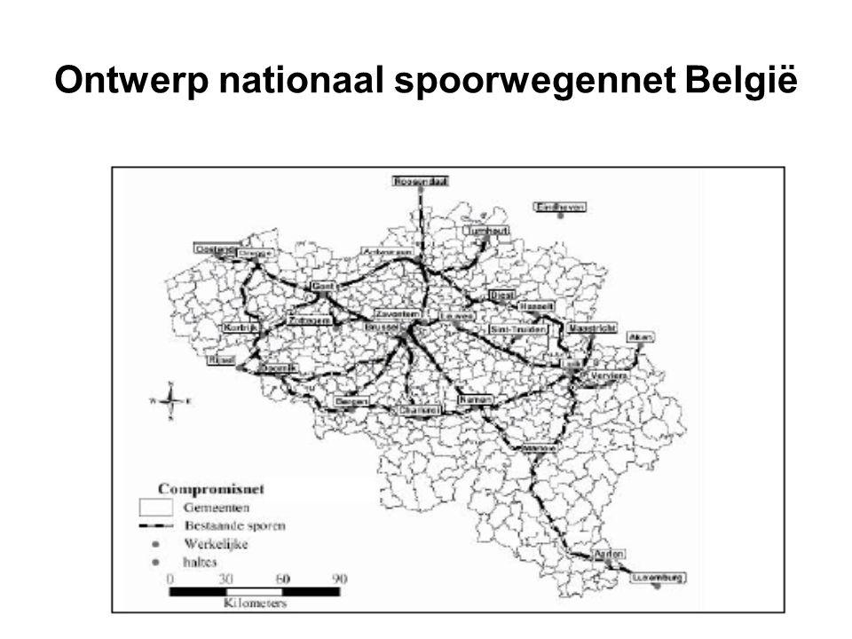 Ontwerp nationaal spoorwegennet België