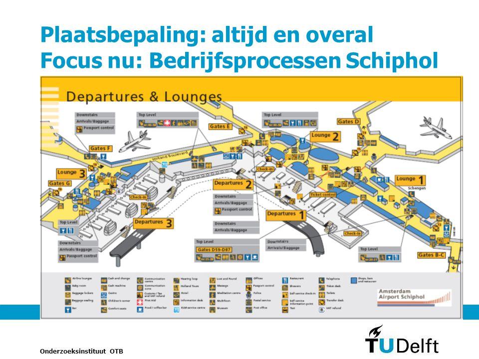 Onderzoeksinstituut OTB 17 Plaatsbepaling: altijd en overal Focus nu: Bedrijfsprocessen Schiphol