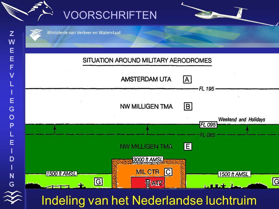 ZWEEFVLIEGOPLEIDINGZWEEFVLIEGOPLEIDING VOORSCHRIFTEN Indeling van het Nederlandse luchtruim