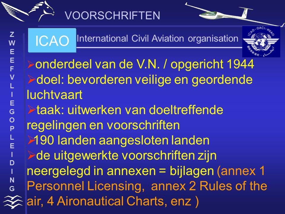 ZWEEFVLIEGOPLEIDINGZWEEFVLIEGOPLEIDING VOORSCHRIFTEN  JAR = joint aviation requirements, afspraken gemaakt door de JAA-landen Europese samenwerking in de jaren 90:  JAR-FCL = Flight Crew Licensing => piloten en technici met een JAR-FCL- brevet kunnen in de 19 landen werken.