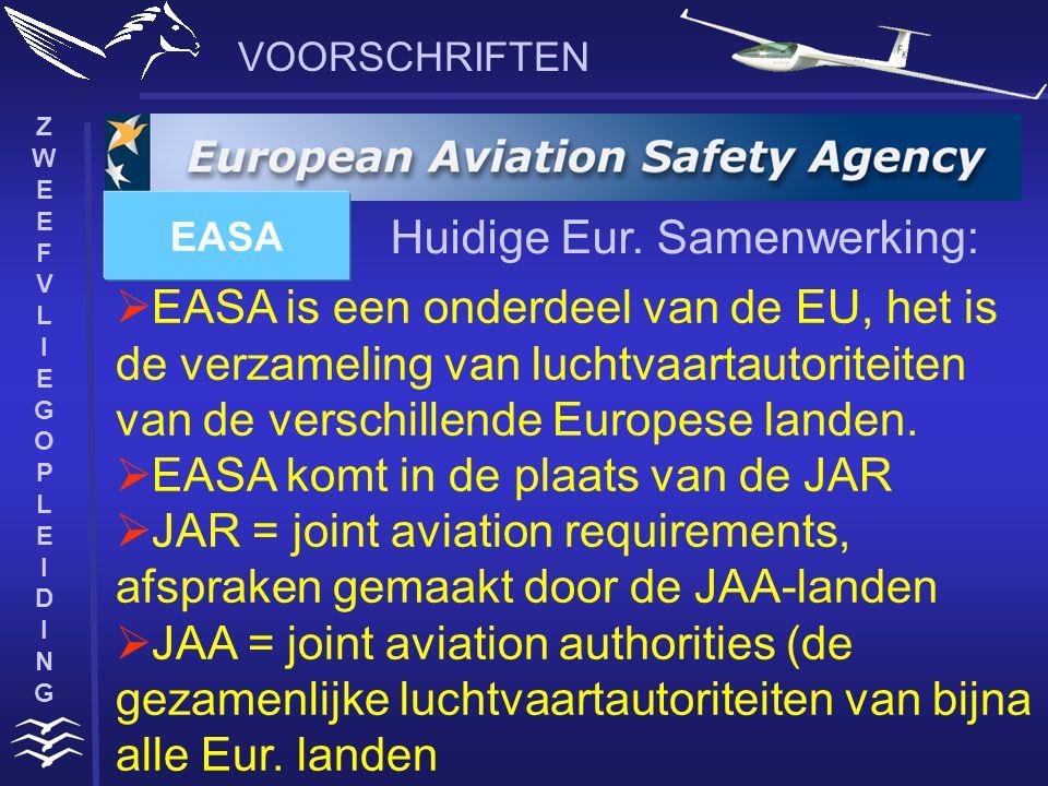 ZWEEFVLIEGOPLEIDINGZWEEFVLIEGOPLEIDING VOORSCHRIFTEN  werkt nauw samen met de EU  regelt het luchtverkeer boven Europa in het bovenste luchtruim  brengt nationale overheden, luchtverkeers-dienstverleners, militaire en civiele luchtruimgebruikers, de industrie en andere Europese instellingen bij elkaar.
