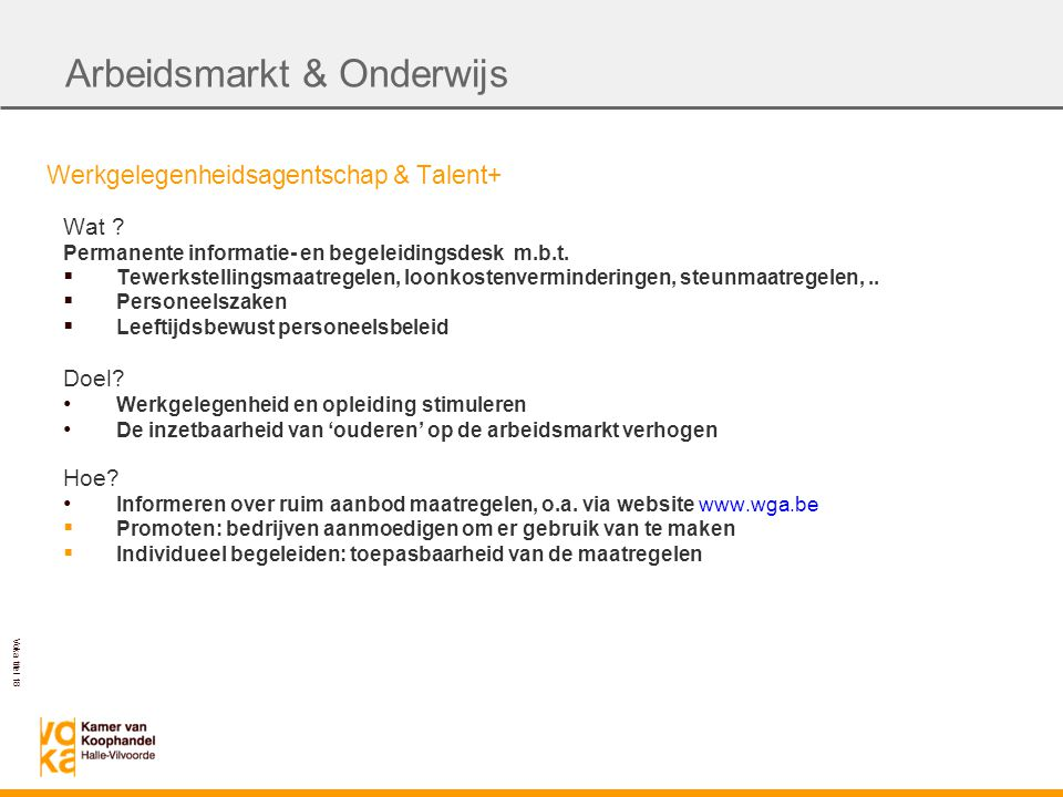 Voka titel 18 Werkgelegenheidsagentschap & Talent+ Wat .