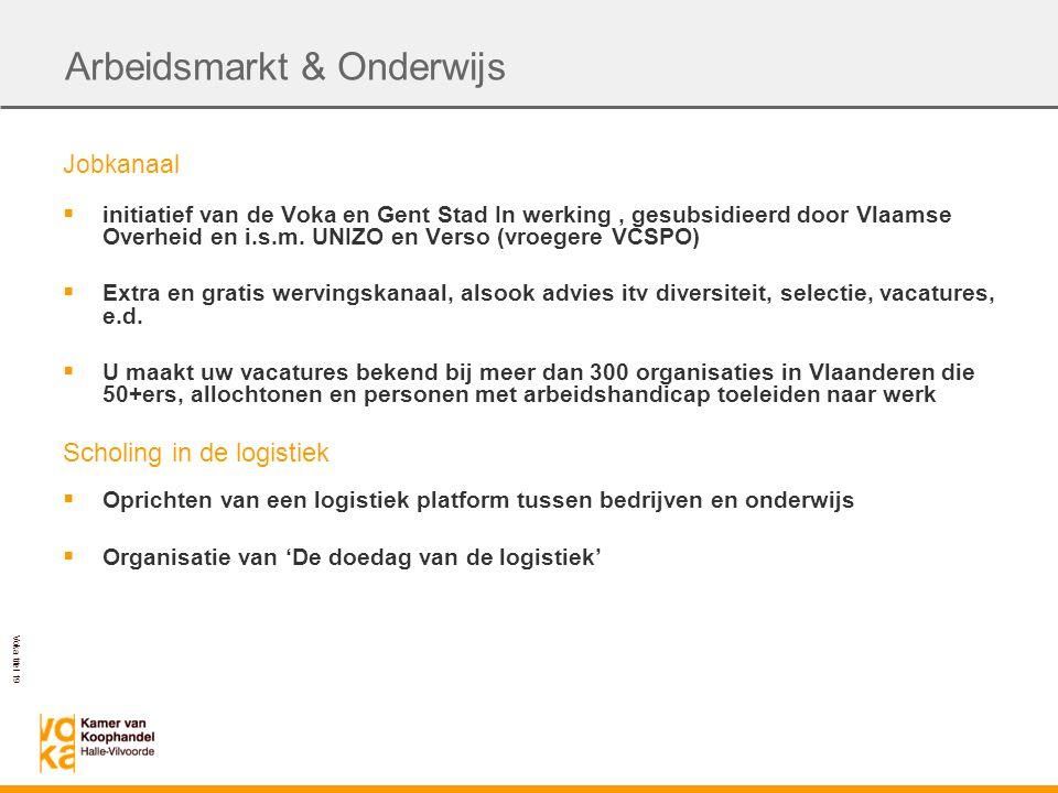 Voka titel 19 Jobkanaal  initiatief van de Voka en Gent Stad In werking, gesubsidieerd door Vlaamse Overheid en i.s.m.