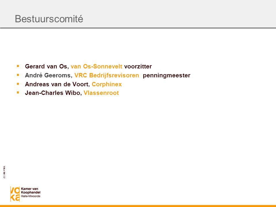 Voka titel 32  Gerard van Os, van Os-Sonnevelt voorzitter  André Geeroms, VRC Bedrijfsrevisoren penningmeester  Andreas van de Voort, Corphinex  Jean-Charles Wibo, Vlassenroot Bestuurscomité