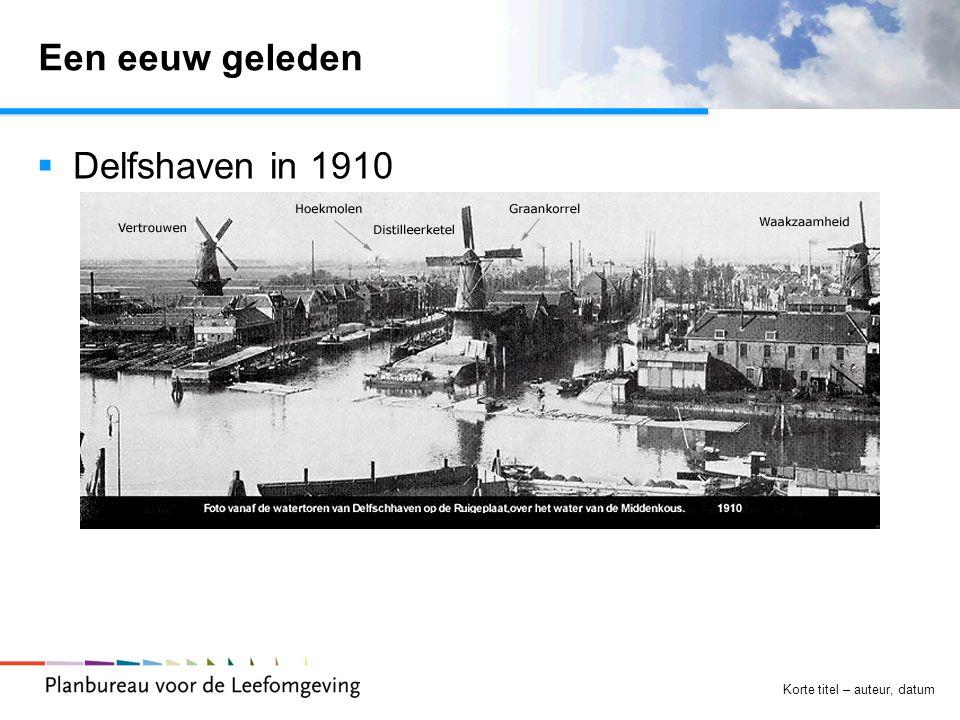 Korte titel – auteur, datum Een eeuw geleden  Delfshaven in 1910