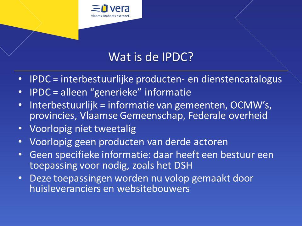 Wat is de IPDC.
