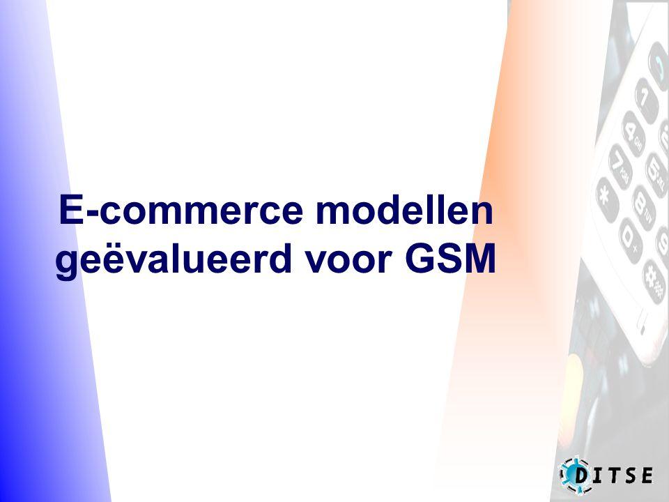 E-commerce modellen geëvalueerd voor GSM