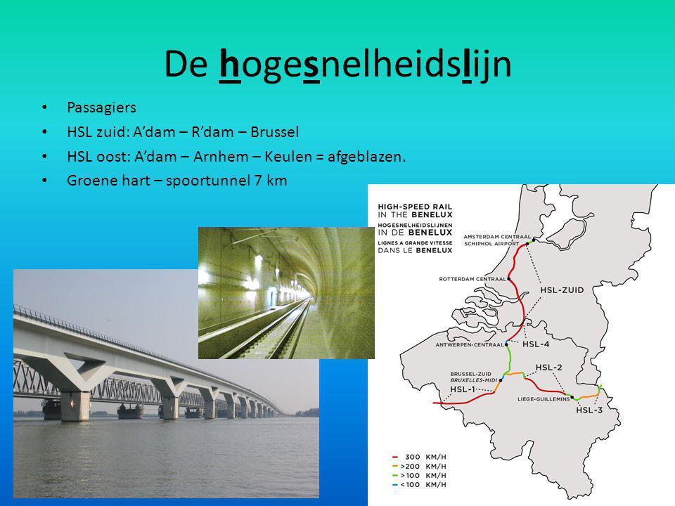 Wereldhavens in de Randstad Luchthaven Schiphol en zeehaven Rotterdam Miljoenen passagiers en vrachtvliegtuigen per jaar Nieuw vliegveld in de Noordzee of in het Markermeer Maasvlakte I & II