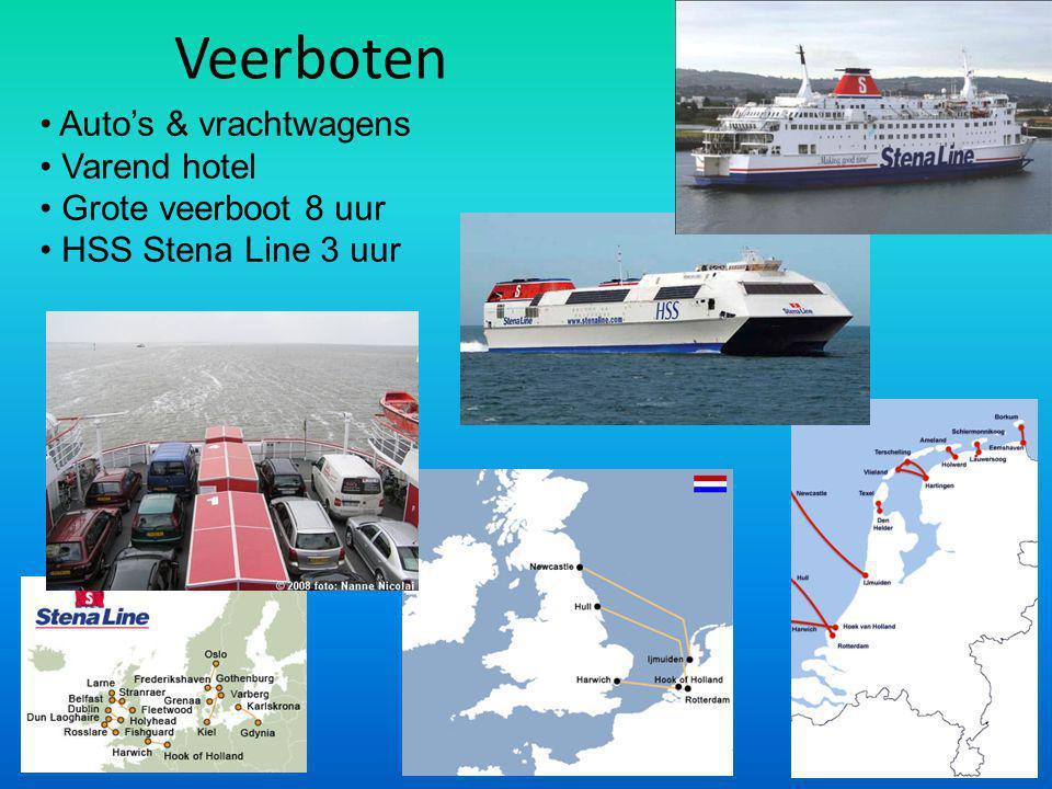 Veerboten Auto's & vrachtwagens Varend hotel Grote veerboot 8 uur HSS Stena Line 3 uur
