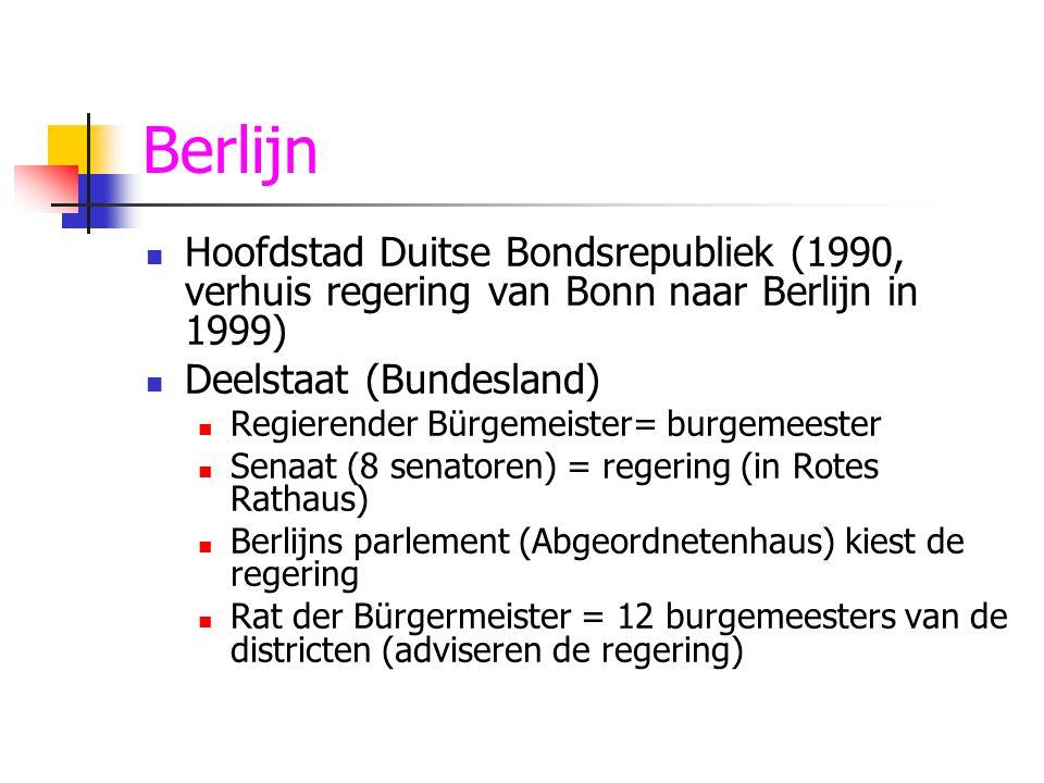 Frederik-Willem 30-jarige oorlog (1618-1648) Nieuwe muren Nieuwe grachten Frederik-Willem, keurvorst van Brandenburg, deed veel voor Berlijn Nieuwe gebouwen Nieuwe wijken (bv.