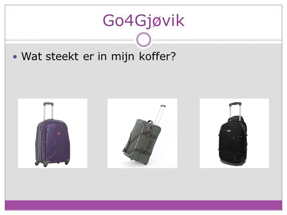 Go4Gjøvik Wat steekt er in mijn koffer