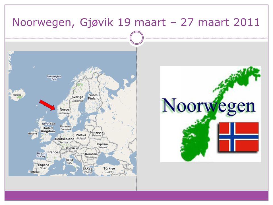 Noorwegen, Gjøvik 19 maart – 27 maart 2011