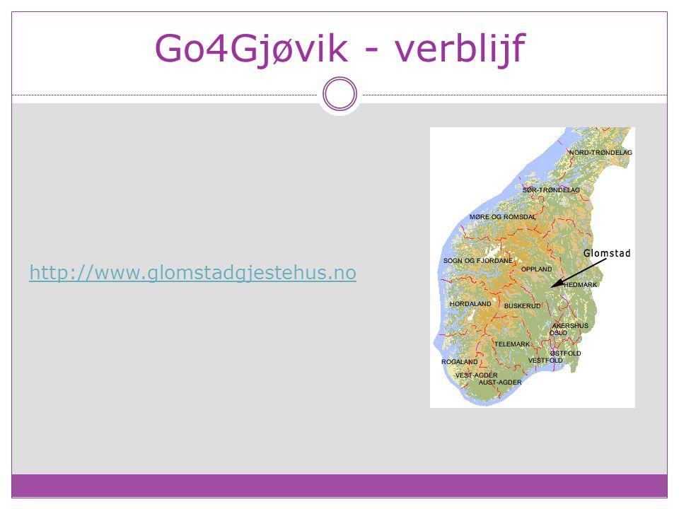 Go4Gjøvik - verblijf http://www.glomstadgjestehus.no