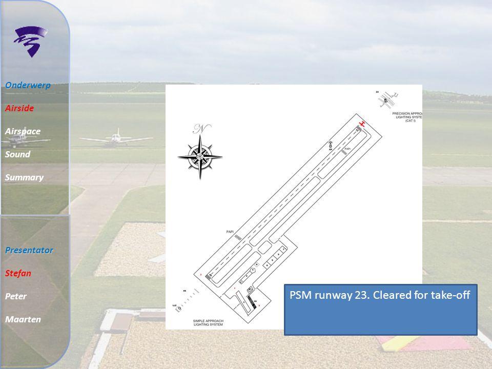 Markering en verlichting O Onderwerp Airside Airspace Sound Summary Presentator Stefan Peter Maarten Touchdown zone Aiming point Threshold Designation