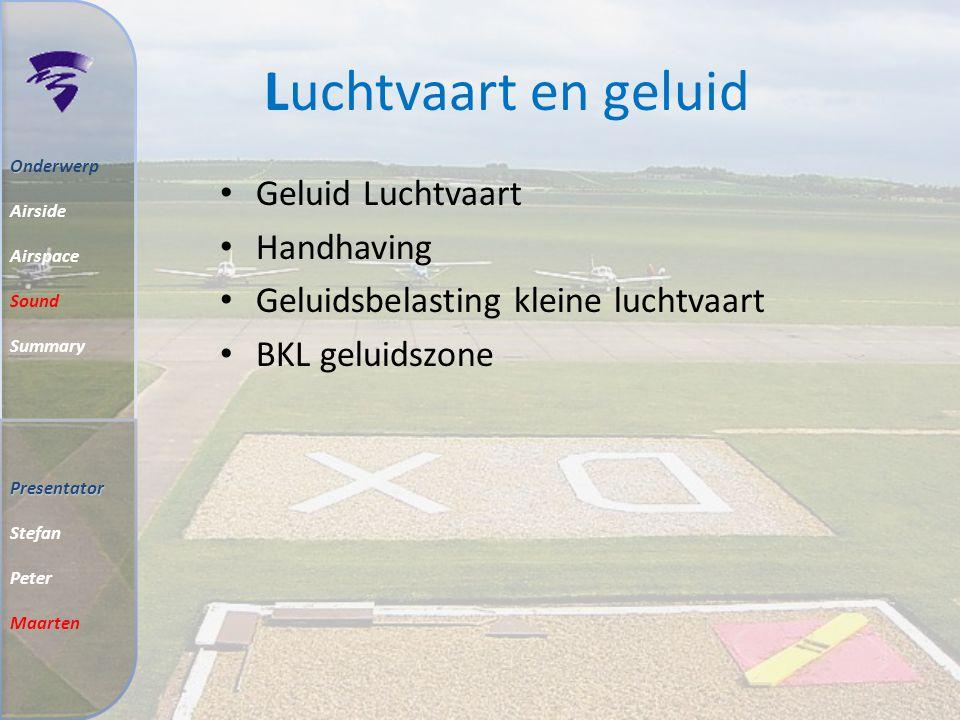 Classificaties Controlled Airspace Uncontrolled Airspace O Onderwerp Airside Airspace Sound Summary Presentator Stefan Peter Maarten