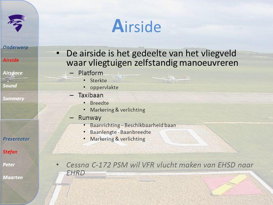 I Inhoud 27 Juni 2008 Airside Airspace Sound Summary