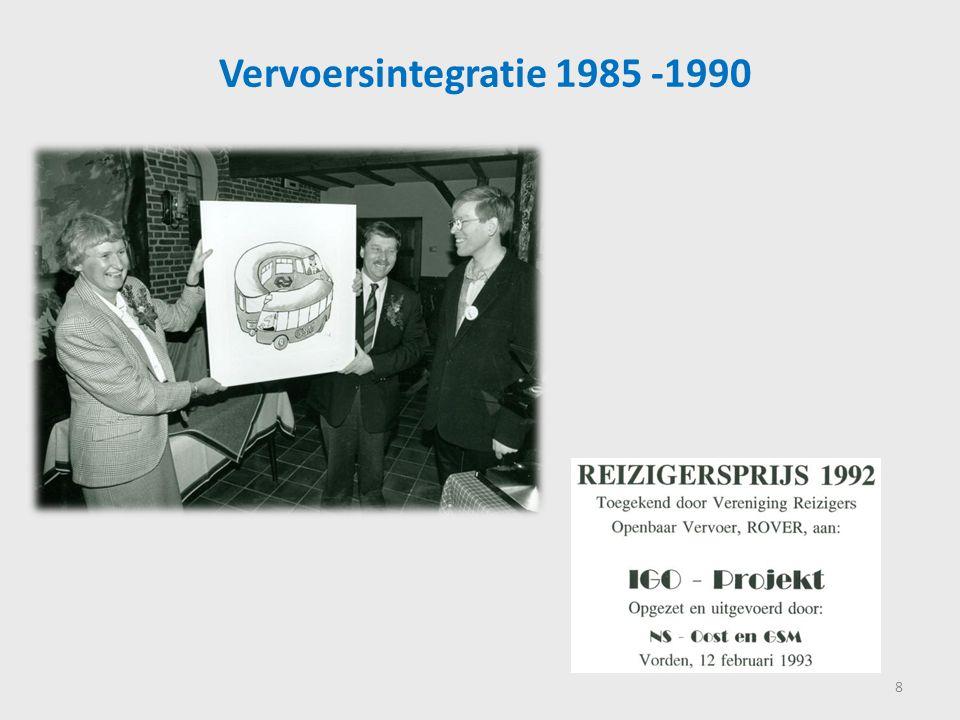 Productontwikkeling Agglo Regio, 1990-1995 9