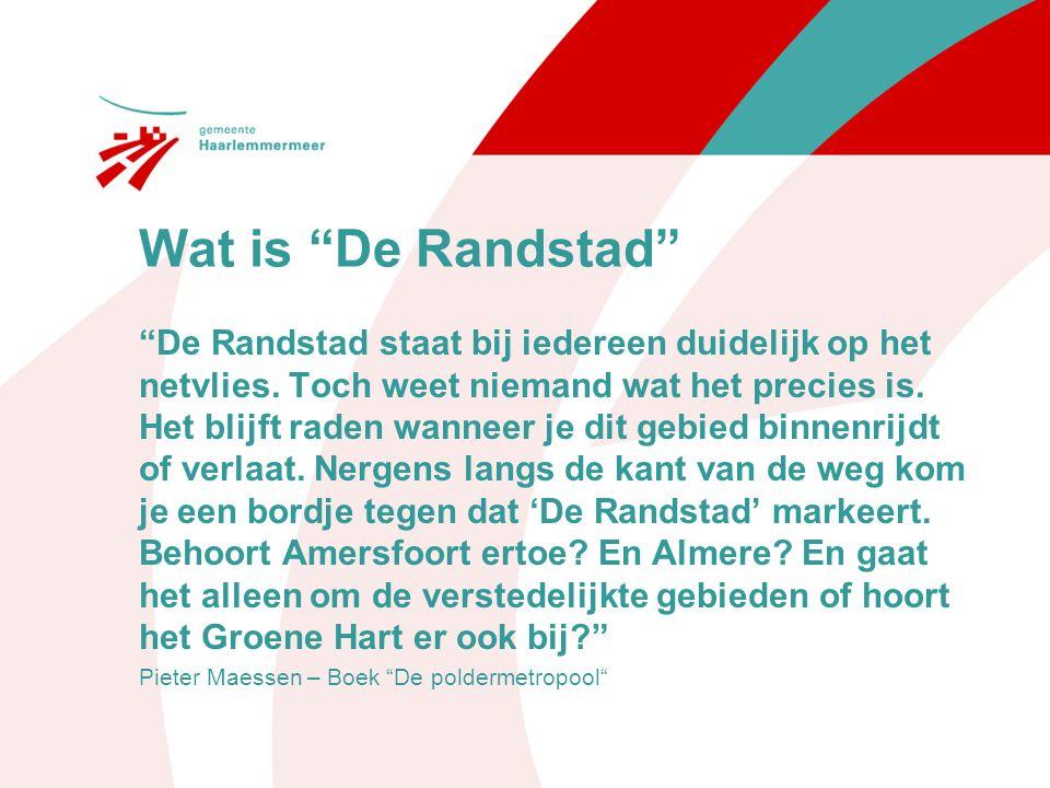 Wat maakt de Randstad Onderscheidend is de aanwezigheid en kwaliteit van metropolitane functies, zoals de Rotterdamse haven, Schiphol, internationale instellingen en diverse culturele brandpunten.