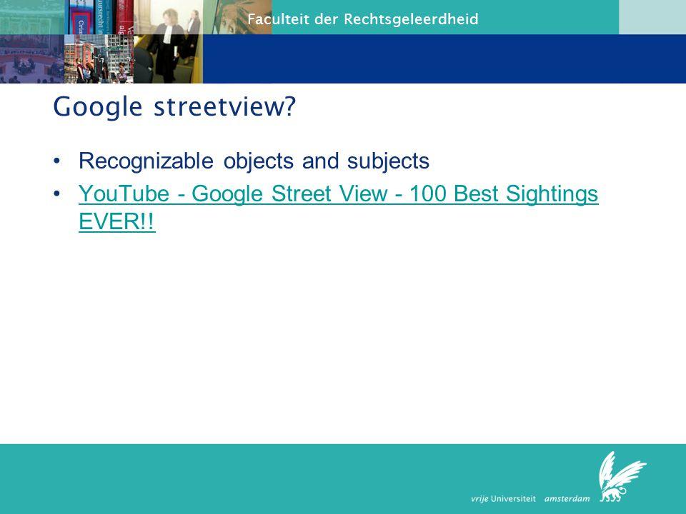 Faculteit der Rechtsgeleerdheid Google streetview.