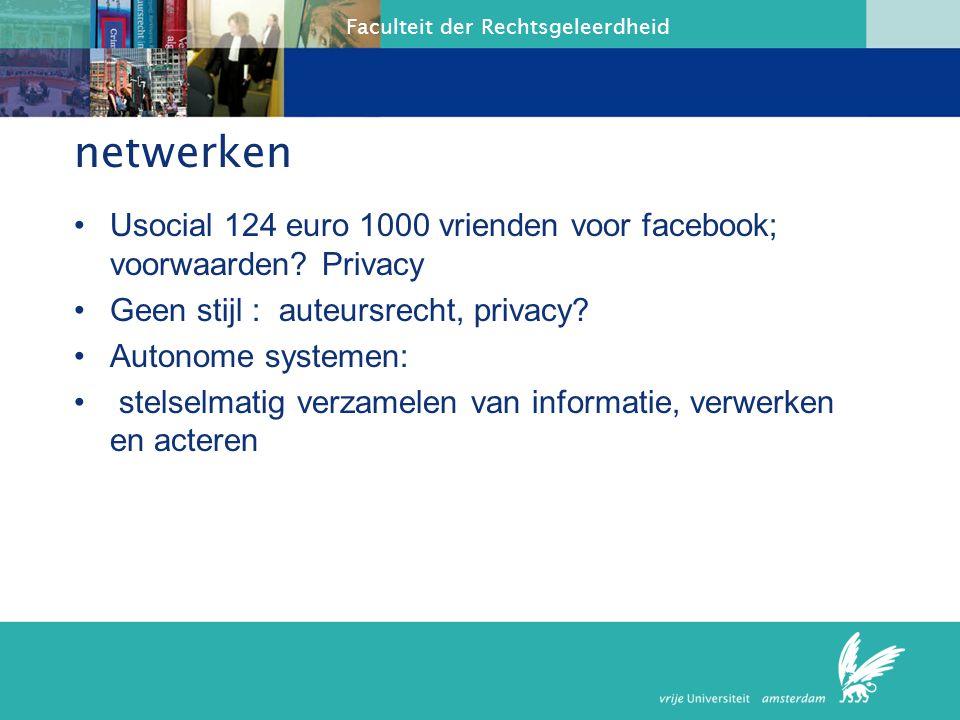 Faculteit der Rechtsgeleerdheid Neelie Kroes pakt sociale media aaneelie Kroes pakt sociale media aan juni 3, 2010 Eurocommissaris Neelie Kroes gaat sociale netwerksites die de privacy van gebruikers schenden harder aanpakken.