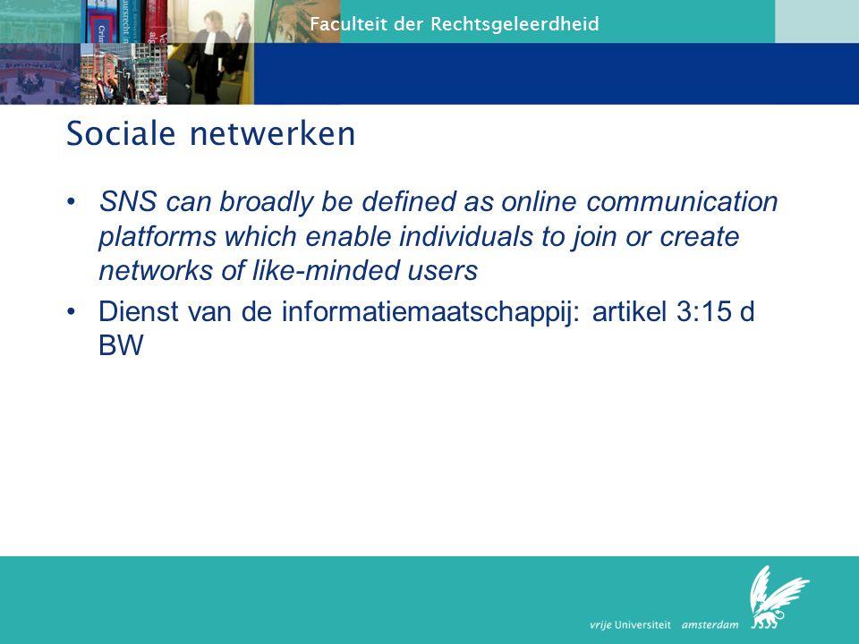 Faculteit der Rechtsgeleerdheid netwerken Usocial 124 euro 1000 vrienden voor facebook; voorwaarden.