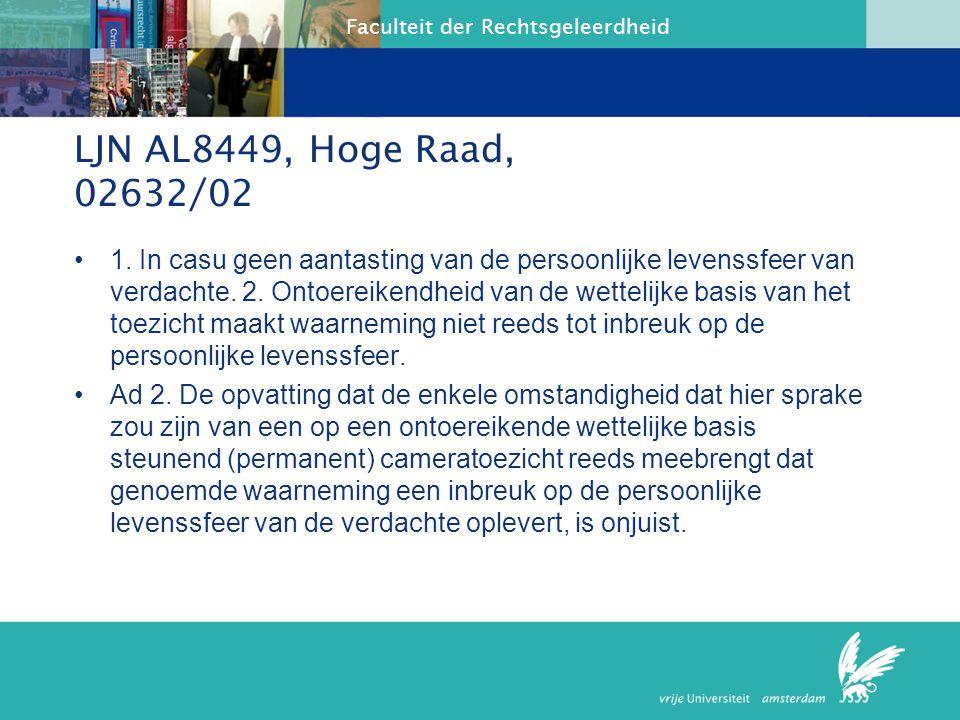 Faculteit der Rechtsgeleerdheid Toezicht, wettelijke basis Ad 1.