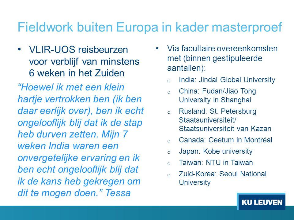 """Fieldwork buiten Europa in kader masterproef VLIR-UOS reisbeurzen voor verblijf van minstens 6 weken in het Zuiden """"Hoewel ik met een klein hartje ver"""