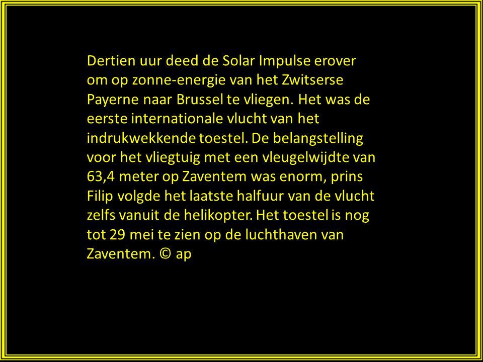 Het toestel wordt aangedreven door zonne- energie.