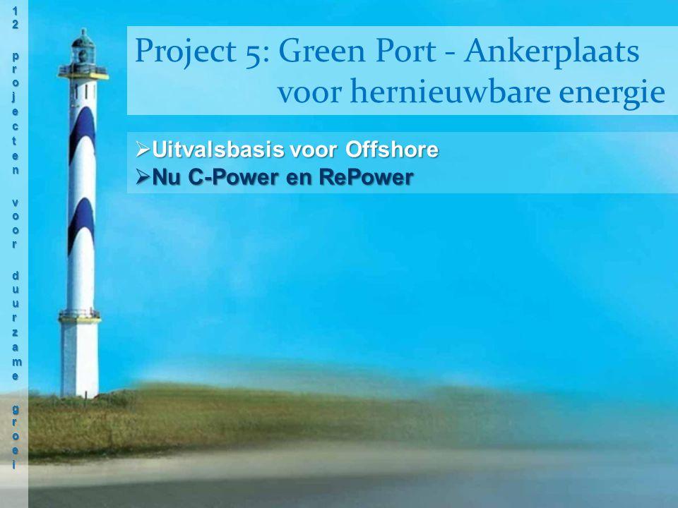  Uitvalsbasis voor Offshore  Nu C-Power en RePower Project 5: Green Port - Ankerplaats voor hernieuwbare energie