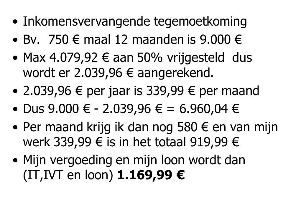 Inkomensvervangende tegemoetkoming Bv.