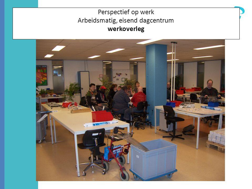 Perspectief op werk Arbeidsmatig, eisend dagcentrum werkoverleg
