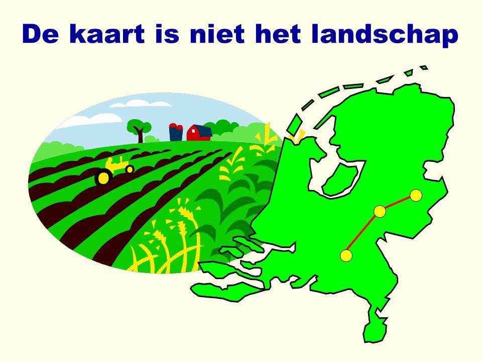 De kaart is niet het landschap