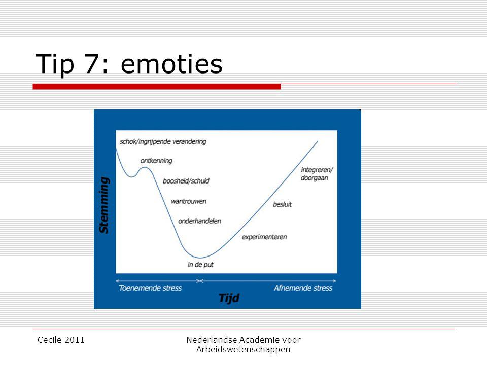 Tip 7: emoties Cecile 2011Nederlandse Academie voor Arbeidswetenschappen
